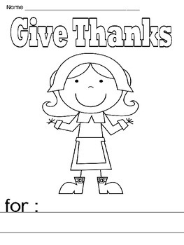 Thanksgiving I Am Thankful Prompt for Elementary K-4
