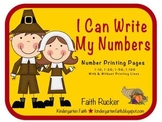 Thanksgiving - I Can Write My Numbers