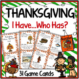 I Have Who Has Game Thanksgiving FREE