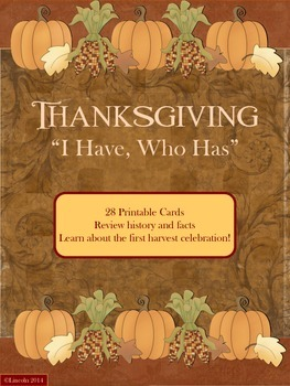"""Thanksgiving """"I Have, Who Has"""" Investigating the First Harvest Celebration"""