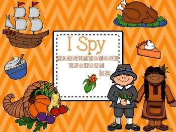 Thanksgiving I SPY Differentiated Sight Word Games