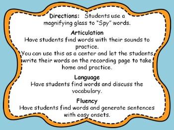 I Spy Thanksgiving Vocabulary