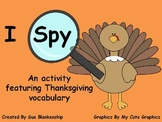 I Spy Thanksgiving Vocabulary