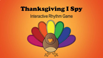 Thanksgiving I Spy Interactive Rhythm Game Bundle