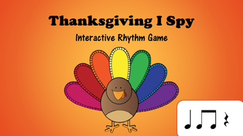 Thanksgiving I Spy Interactive Rhythm Game: Ta Ti Ti Rest