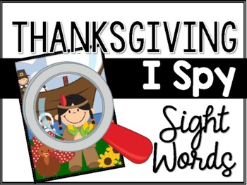 Thanksgiving I Spy Sight Words