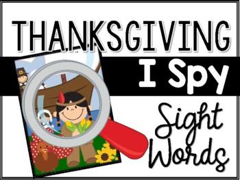 Thanksgiving I Spy Sight Words