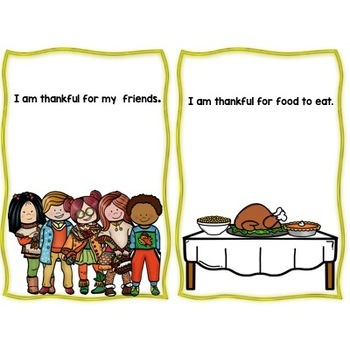 """Thanksgiving, Fall """" I am Thankful""""  An interactive Story Three Versions"""