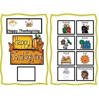 """Thanksgiving"""" I am Thankful""""  A Differentiated Story,Interactive,Writing  Prompt"""