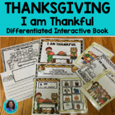 "#thankful4u Thanksgiving"" I am Thankful""  A Differentiated Story"