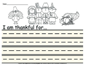 Thanksgiving: I am Thankful for...