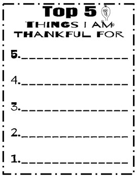 Thanksgiving: I am Thankful for
