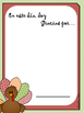 """Thanksgiving """"I am thankful for"""" / Acción de Gracias """"Doy gracias por..."""""""