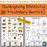 Thanksgiving Illustrated Vocabulary Sheets