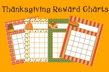 Thanksgiving Incentive Reward Charts