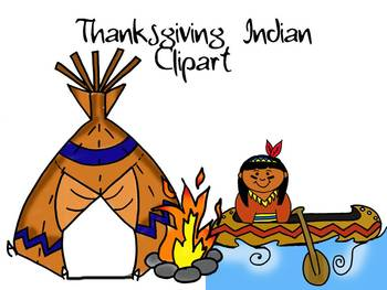 Thanksgiving Indian Clipart by Learning 4 Keeps Design!