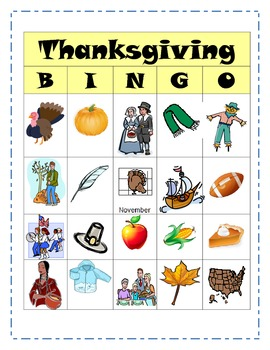 Thanksgiving Inference Bingo