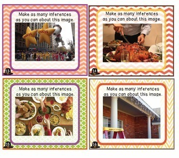 Thanksgiving Inference Task Cards