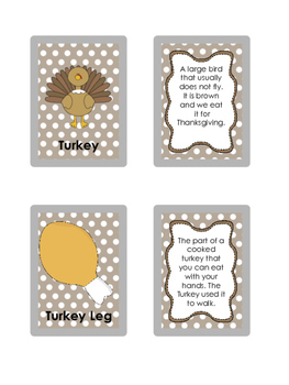 Thanksgiving Inference and Describing Cards