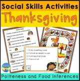 Social Skills Politeness Thanksgiving Activities for Mixed Groups