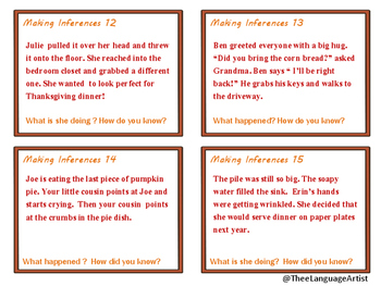 Thanksgiving Inferences and Social Skills Bundle