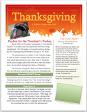 Thanksgiving Informational Flyer with Questions for Middle School (FREE)