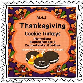 Thanksgiving Informational Reading Passage: Oreo Turkeys