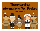 Thanksgiving Informational Text Posters and Coloring Book