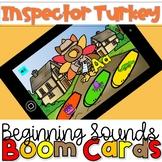 Thanksgiving Inspector Turkey Beginning Sounds Boom Cards