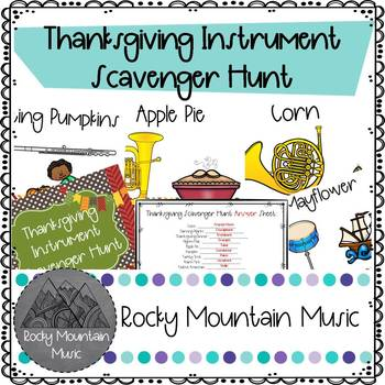 Thanksgiving Instrument Scavenger Hunt