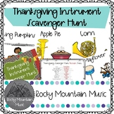 Thanksgiving Instrument Scavenger Hunt