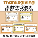 Thanksgiving Integer Game Similar to Jeopardy