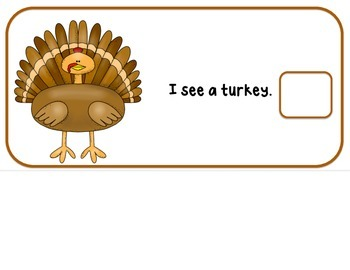 """Thanksgiving Interactive Adaptive books set of 2 (""""I See and """"How Many?)"""