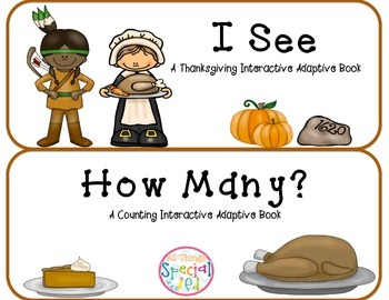"Thanksgiving Interactive Adaptive books set of 2 (""I See a"