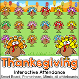 Thanksgiving Activities Interactive Attendance with Lunch Choices - SMARTboards