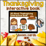 Thanksgiving Interactive Book  |   Boom Cards™ with WH-questions