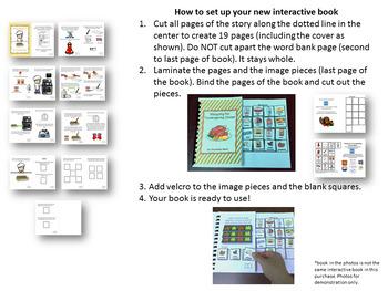 Thanksgiving Interactive Book - Making Green Bean Casserole & FREE Visual Recipe