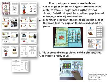Thanksgiving Interactive Book - Making Sweet Potato Casserole & Visual Recipe