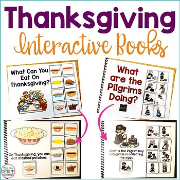 Thanksgiving Interactive Books (Adapted Books For Special Education)