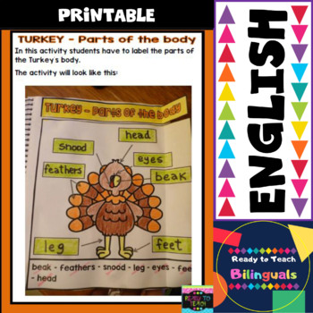 Interactive Notebook - Thanksgiving  - 1 Cover and 12 Tasks - Picture Models
