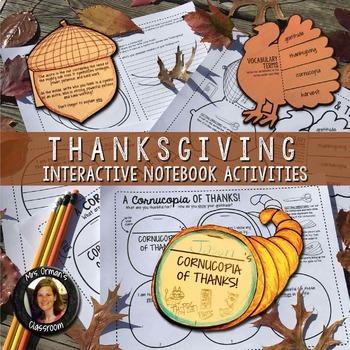 Thanksgiving Interactive Notebook Activities