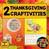 Thanksgiving Interactive Notebook Craftivities
