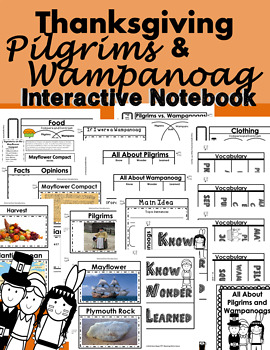 Thanksgiving Interactive Notebook Lapbook for ANY TEXT Com