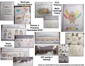 Thanksgiving Interactive Notebook Pack!  ELA, Math, Social Studies & More!