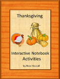 Thanksgiving Literacy Center Math Center Fine Motor Notebook Activities