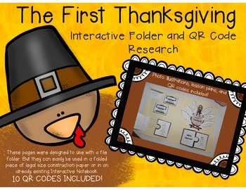 Thanksgiving Interactive Notebook with QR Codes!