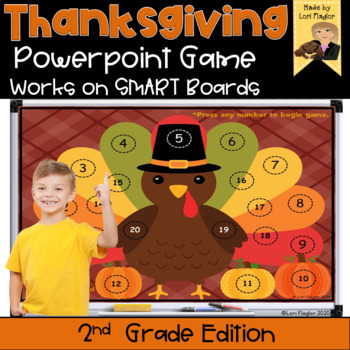 Thanksgiving Interactive Powerpoint Math Game- Second Grad
