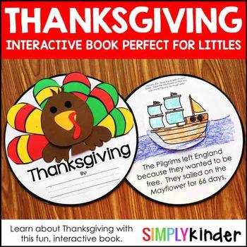 Thanksgiving Kindergarten Interactive Book