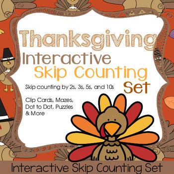 Thanksgiving Interactive Skip Counting Set