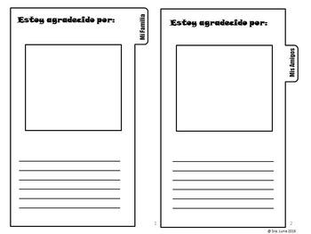 Spanish Thanksgiving Interactive tab book El Dia de Acción de Gracias